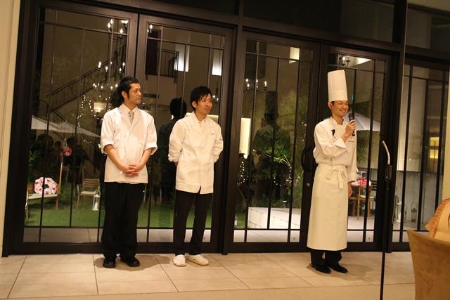 今回のすばらしい料理を担当してくれたGRANADA島内明則氏(右)、JAPANEZE DINING すし和食永代 永代弘樹氏(真中)、 RINTO 中野泰輝氏(左)