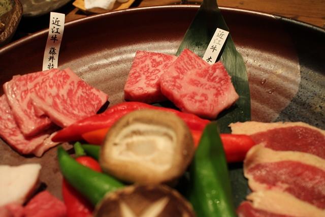 木下さんと藤井さんのロース食べ比べ