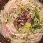 愛農ナチュラルポークのバラでミルフィーユ鍋